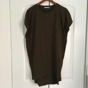 Zara Olive Short Sleeve Tee Dress